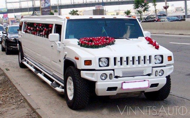 Аренда Лимузин Hummer H2 на свадьбу Винница