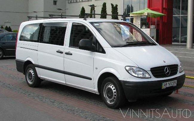 Аренда Микроавтобус Mercedes Vito на свадьбу Винница